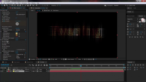 AE Glowing Streaky Text