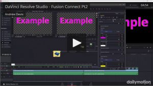DaVinci Resolve Studio - Fusion Connect